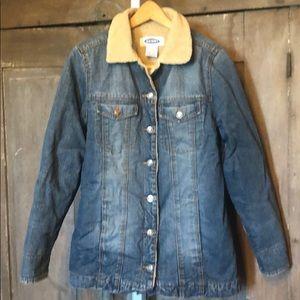 70s vibe long denim jacket